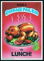 "1986 1st Series, Giant 5""x 7"" Garbage Pail Kids - Take a G P Kid to Lunch - #8"