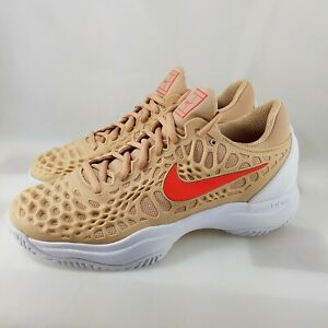 Nike Air Zoom Cage 3 HC Tennis Shoes ( Beige Crimson Men's Size 7 ) 918193-201
