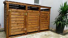 Mülltonnenbox aus Holz für 3 Mülltonnen 240l Mülltonnenverkleidung Neuware TOP !