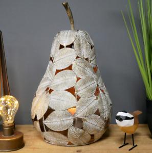Metal Pear Candle Holder Large Tea Light Lantern Unique Home Decoration