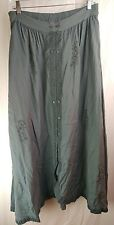 Womens Shopping with Anthony Mark Hankins Dark Teal Skirt Size Large Floral Cute