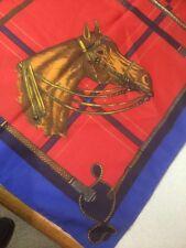 "Beautiful Horse Scarf Equestrain Theme Saddle Whips 30"" X 30"""