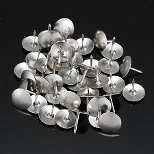 80pcs Drawing Pins Thumb Tacks Push Home Office Supplies Thumbtack Nickel Metal