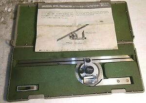 """551 Mitutoyo Universal Bevel Protractor 187-906 12"""" Blade 360 Degrees (Qty.1)"""