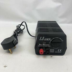 SkyTronic 1.5 Amp Regulated DC Power Supply. Short Circuit & Overload Protected.