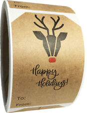 """Natural Kraft Modern Christmas Holiday Gift Tags 