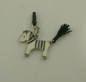 zebra cell phone or purse charm dust plug  fits iPhone