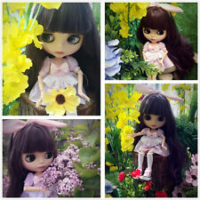 """12""""Neo Blythe Doll Purple Hair Jonit Body Matte FaceNude Doll from Factory C5006"""