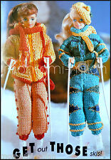 TRICOT/CROCHET PATTERN * Barbie & Midge * poupées vêtements * ski tenues anorak