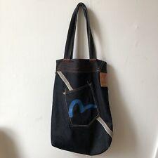Stunning Vintage Evisu Raw Selvedge Denim Tote Bag, Indigo
