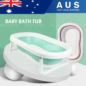 Baby Bath Tub Infant Toddlers Foldable Bathtub Folding Safety Bathing Shower AU