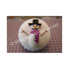 Doll House 12th Scale : Snowman Cake Christmas