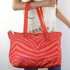 NWT Coach Zebra Animal Print Packable Weekender Tote Bag F77526 Hot Orange NEW