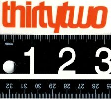 THIRTYTWO ORANGE STICKER Thirtytwo Snowboarding Sticker 32 Orange Decal