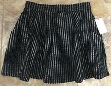 NWT! Free People Black Cream Mini Skirt Pockets Short XS