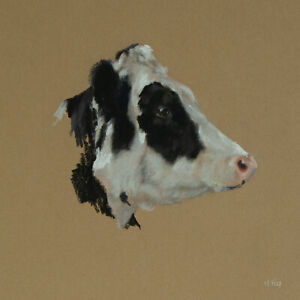 Cow Study / Pastel Drawing Sketch