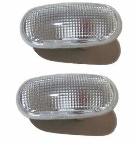 Pair Side Fender Clear Lamp Light for Mitsubishi Pajero Montero Shogun MK2 MK II