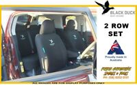 BLACK DUCK Canvas 2 Row Seat Cover Set for Ford Ranger PK 03/09-08/11 XL XLT