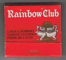 Rainbow & Monterey Clubs Primadonna Ad Vintage Red Unused Matchbook California