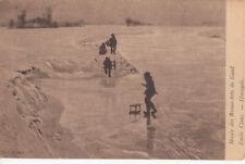 Emile Claus winter sledge sliders early art postcard