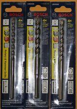 "6""L Bosch 1/4"", 3/8"" & 5/16"" Rotary Hammer Drill Bits LBH004, LBH006, and LBH008"