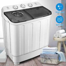17lbs Portable Mini Twin Tub Compact Washing Machine Washer Spin Dryer W/ Hose.