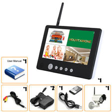 "Wireless 4CH QUad DVR Outdoor Camera + 9""TFT LCD Monitor Night Vision Z007"
