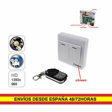 Camara espia oculta Interruptor Falso 1280 x 960p 30FPS Deteccion movimiento