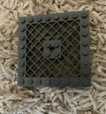 LEGO Plate 8 x 8 with Grille (Hole in Center) (4151) In Dark Gray