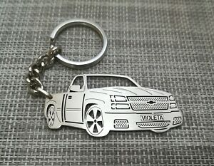 Chevrolet silverado, keychain by your picture, custom gift, personalised keyring