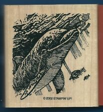 DOLPHIN DIVING FISH Ocean Scene UNDER the SEA LIFE new STAMPIN' UP! RUBBER STAMP