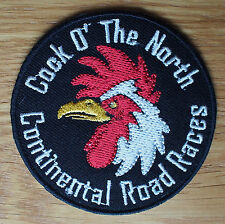 Motorcycle Biker Cloth Patch Leathers Vest Denim COCK O THE NORTH Road Races O'