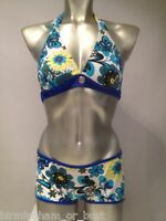 Brand New Halterneck Bikini Top & Short Set Sizes UK 10 12 14 B & C rrp £29