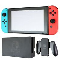 Renewed Nintendo Switch V1 UNPATCHED Video Game Console w/ OEM Blue/Red