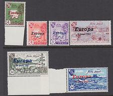 HERM:1961 Europa set  AITCH H67-72MNH