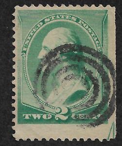 US # 213 (1887) 2c Used - Fine  - EFO: Guide line ARROW 1/200