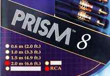 "Brand New Tara Labs ""Prism 8"" RCA Interconnect Audio Cables 2.0 meters 6.6 ft"