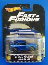 2017 Hot Wheels Retro Entertainment Fast & Furious '99 NISSAN SKYLINE GT-R (R34)