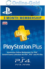 PSN Live Card Plus 90 Tage (Sony) - nur für UK! Playstation Plus Key für 90 Tage