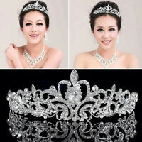 Crystal Bridal Princess Headband Tiara Wedding Austrian Stunning Hair Crown Veil