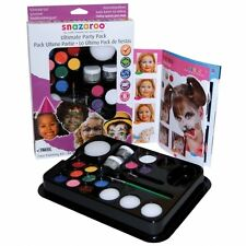 Snazaroo FACE PAINTING Ultimate Party Kit (Paints/Sponges/Brush/Guide)(1180100)