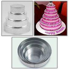 4 Tier Round Multilayer Wedding Birthday Anniversary Baking Cake Tins Pans