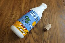 Milk or Water Bottle by Carlton Glass,Quart Bottle,colorful,tall,juice,glass