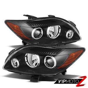 2008-2010 Scion Tc 2AZ-FE Crystal Black JDM Style Headlights Headlamp Assembly