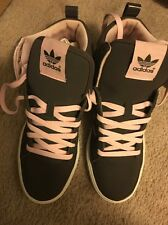 Adidas WOMENS FASHION SNEAKERS HIGH TOP SPORT SHOES Brown / Pink Lace US 7.5