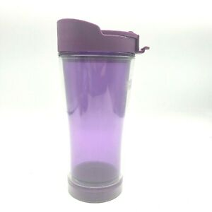 Mighty Mug Double Wall Tumbler 20 oz Purple The Mug That Won't Tip Over Hot Cold