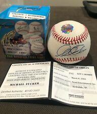 Michael Tucker Autograph Ball -  Braves - Royals - Reds - Hidden Authentics COA