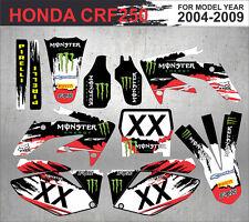Honda CRF 250 2004-2009 sticker, MX decals monster (Aufkleber, Adesivi)