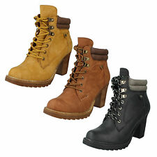 High Heel (3-4.5 in.) Block Lace Up Casual Shoes for Women