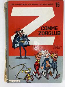 Comme Zorglub Spirou et Fantasio 15 Franquin & Greg 1961 Hardcover French